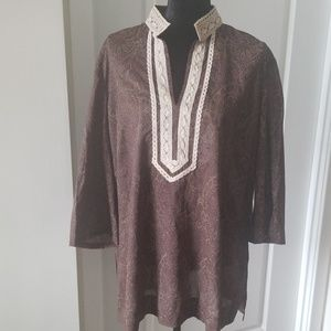 Michael Michael Kors Cotton Tunic Top Sz 2X